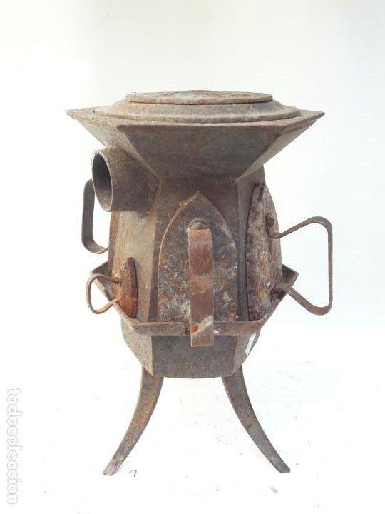 Antigüedades: CENTRAL DE PLANCHADO ANTIGUA S XVIII XIX , DE MUSEO - Foto 6 - 194896946