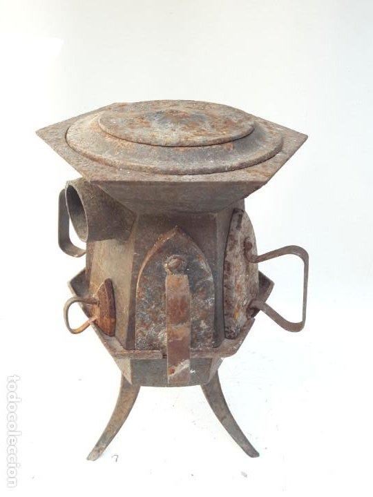 Antigüedades: CENTRAL DE PLANCHADO ANTIGUA S XVIII XIX , DE MUSEO - Foto 7 - 194896946