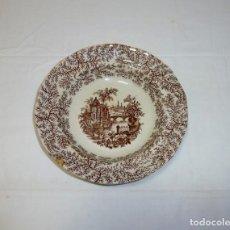 Antigüedades: ANTIGUO PLATO HONDO DE LA CARTUJA PICKMAN SEVILLA.AÑOS 20.. Lote 194903147