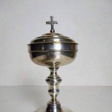 Antigüedades: COPÓN O CIBORIO EN PLATA, FINALES DEL SIGLO XVIII. Lote 194906091