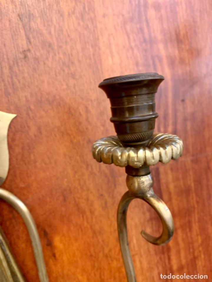Antigüedades: Pareja de apliques para velas(Antigüedad) - Foto 4 - 194913950