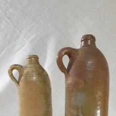 Antigüedades: CERAMICA VASCA PAREJA DE BOTELLAS. Lote 194917002