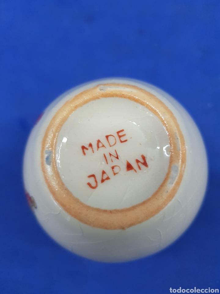 Antigüedades: Jarrón pequeño, porcelana Made un Japan - Foto 4 - 194924258