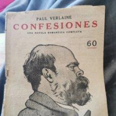Antigüedades: NOVELA ROMÁNTICA CONFESIONES COMPLETA. Lote 194924677