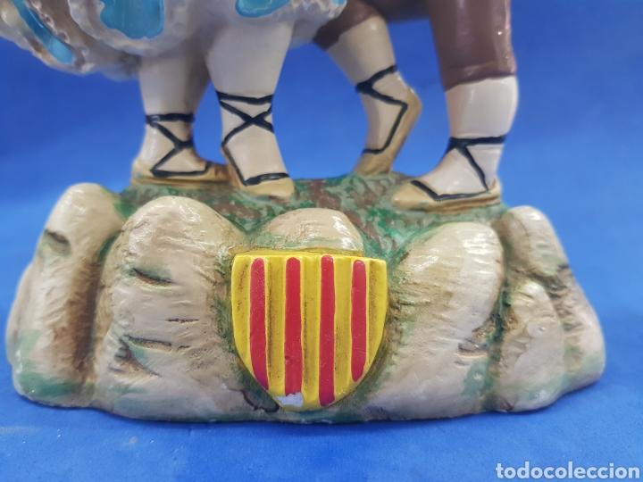 Antigüedades: Pareja de Catalanes bailando, estuvo policromada, años 1950-60 - Foto 8 - 194925442