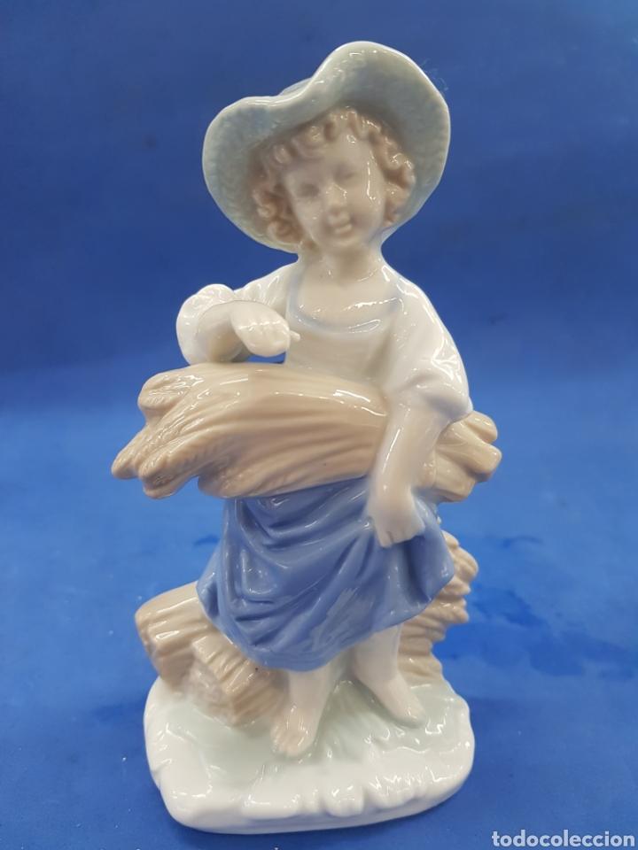 Antigüedades: Pareja de Segadores, Figuras de porcelana , años 1970 - Foto 2 - 194926021