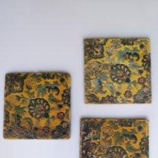 Antigüedades: AZULEJOS MODERNISTAS CARTÓN PIEDRA LABOR VERITAS CHARITAS NÚMERO 13 GRANITINA. Lote 194930526