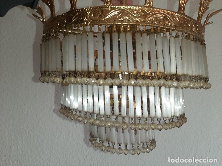Antigüedades: LOTE SEIS LAMPARAS MAS DE 200 LAGRIMAS CADA UNA- VER FOTOS DETALLES - Foto 2 - 194932438