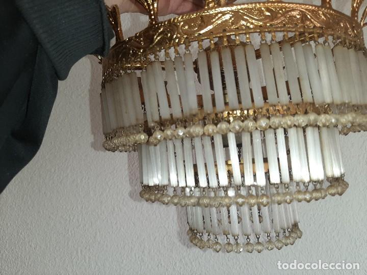Antigüedades: LOTE SEIS LAMPARAS MAS DE 200 LAGRIMAS CADA UNA- VER FOTOS DETALLES - Foto 5 - 194932438