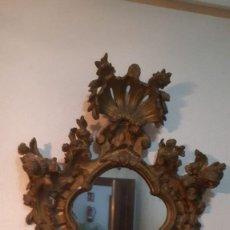 Antigüedades: ESPEJO ESPECTACULAR ANTIGUO ORNAMENTAL DE 110 CMS. DE ALTO X 80 DE LARGO. Lote 194932625