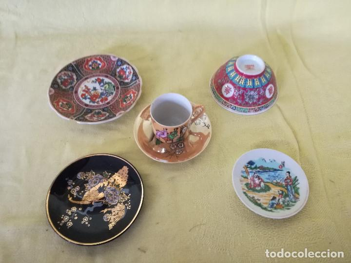 LOTE DE 6 PIEZAS DE PORCELANA CHINA U ORIENTAL, TAZA, BOLL Y 5 PLATOS (Antigüedades - Porcelanas y Cerámicas - China)
