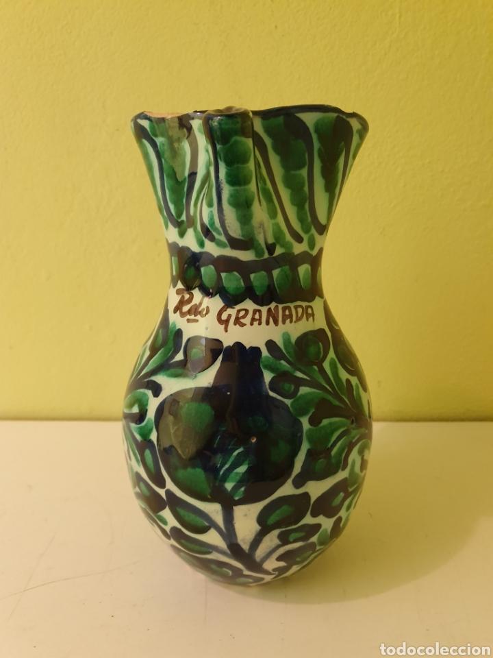 JARRA PARA EL VINO CERÁMICA DE FAJALAUZA (GRANADA) (Antigüedades - Porcelanas y Cerámicas - Fajalauza)