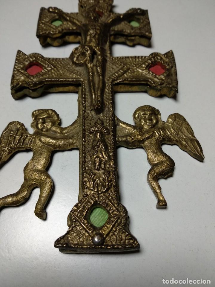 Antigüedades: Cruz de Caravaca antigua - Foto 2 - 194941028