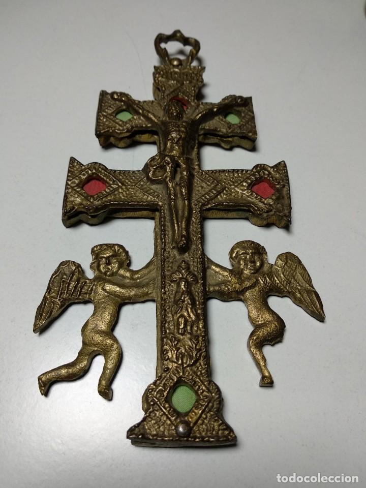 Antigüedades: Cruz de Caravaca antigua - Foto 3 - 194941028