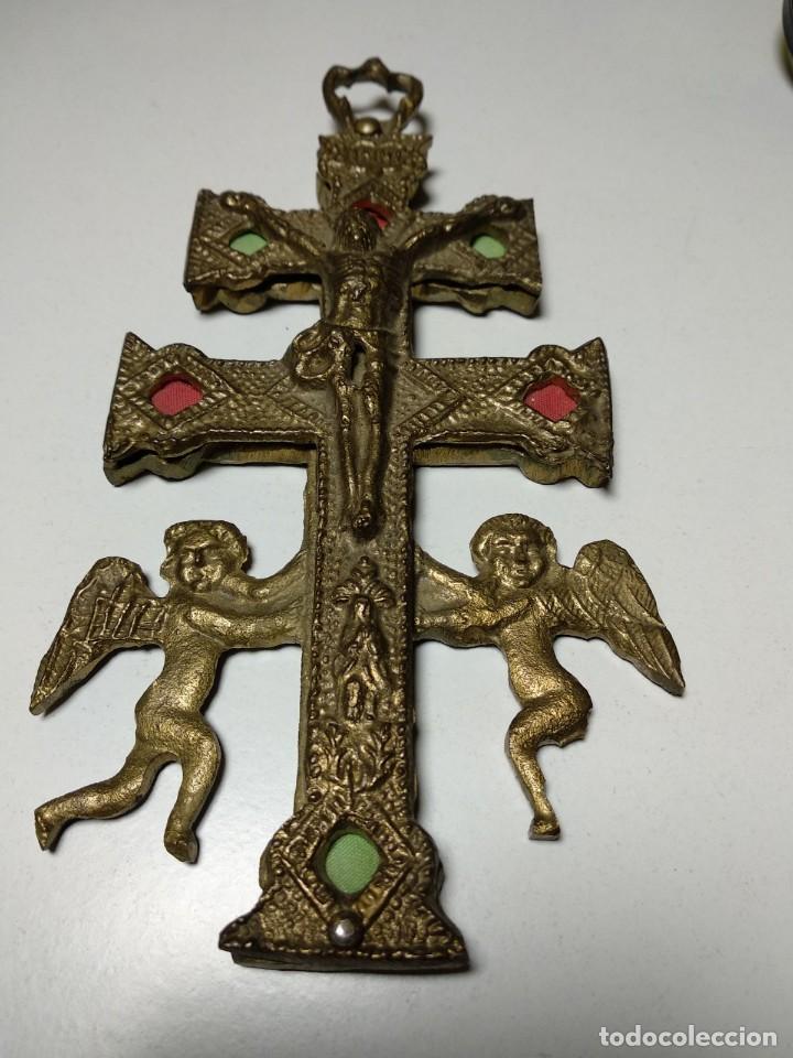 Antigüedades: Cruz de Caravaca antigua - Foto 6 - 194941028