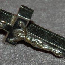 Antigüedades: CRUZ RELICARIO MADERA DEL ARBOL DE SANTO DOMINGO. Lote 194943168