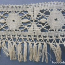 Antigüedades: ANTIGUO ENCAJE DE BOLILLOS CON FLECO PPIO.S.XX. Lote 194943932