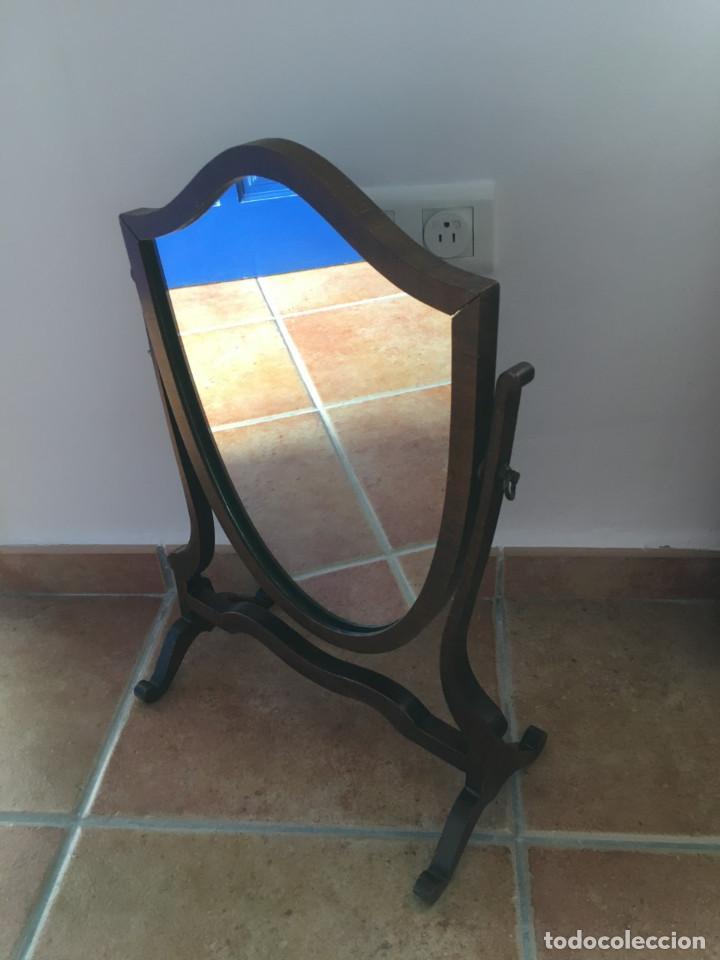 Antigüedades: Espejo de tocador ingles de caoba siglo xix - Foto 4 - 194944928