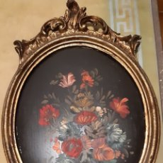Antigüedades: MARCO VINTAGE CON FLORES. Lote 194945338