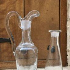 Antigüedades: LICORERAS DE CRISTAL. Lote 194950212
