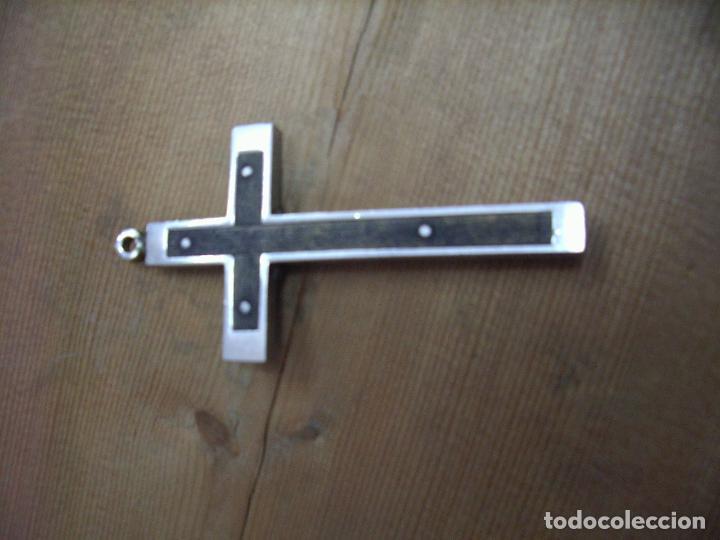 Antigüedades: Bonita cruz metal Cruz-1 - Foto 2 - 194952337