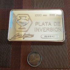 Antigüedades: LINGOTE 1 KILO PLATA 999. PEDRO DURAN. Lote 194954296