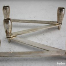 Antigüedades: CANDELABRO DE PLATA MÓVIL - 5 VELAS - 73 CM.. Lote 194955935