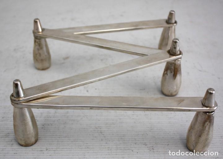 Antigüedades: CANDELABRO DE PLATA MÓVIL - 5 VELAS - 73 CM. - Foto 2 - 194955935