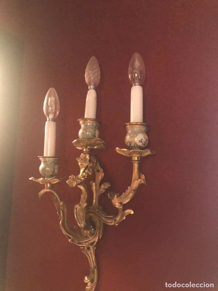LÁMPARA ANTIGUA (Antigüedades - Iluminación - Apliques Antiguos)