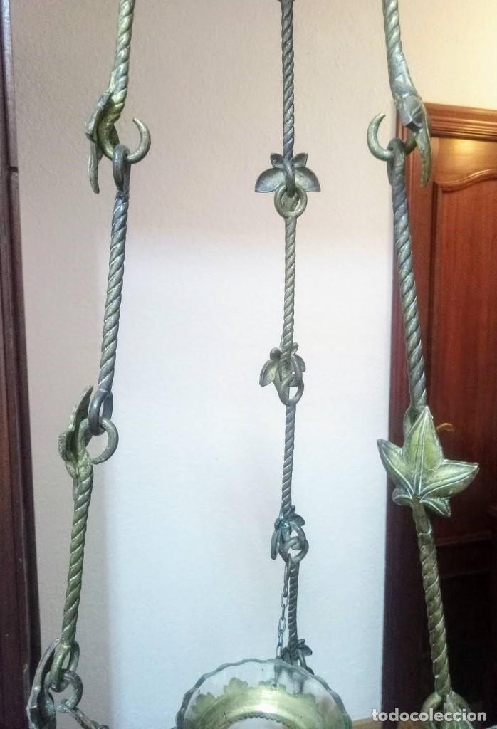 Antigüedades: Antiguo Grande de bronce, lámpara de aceite, Francés, - Foto 4 - 194956296
