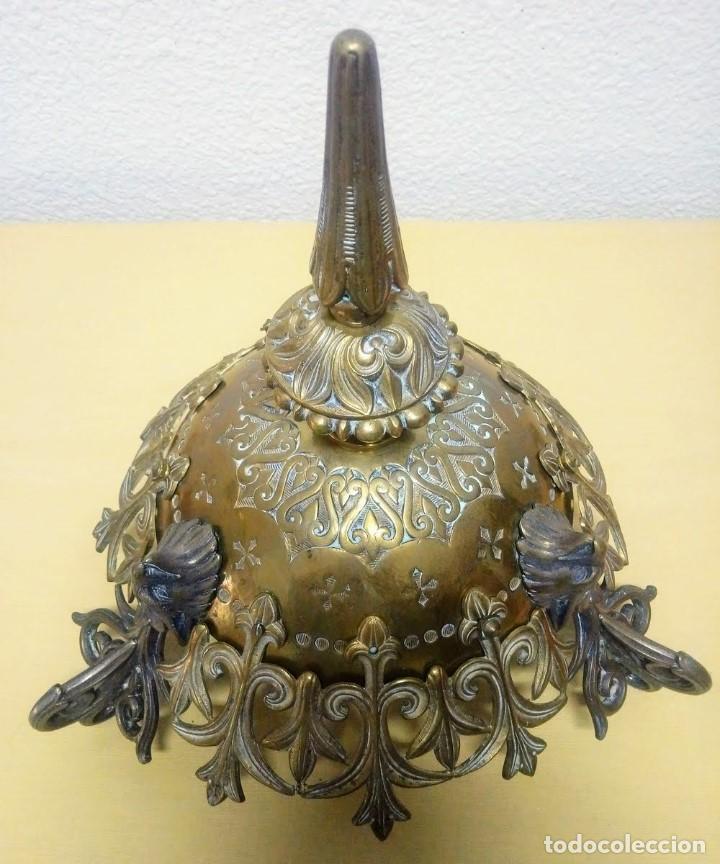 Antigüedades: Antiguo Grande de bronce, lámpara de aceite, Francés, - Foto 9 - 194956296