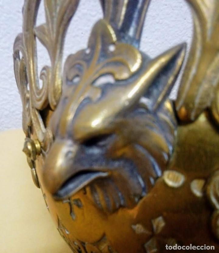 Antigüedades: Antiguo Grande de bronce, lámpara de aceite, Francés, - Foto 11 - 194956296
