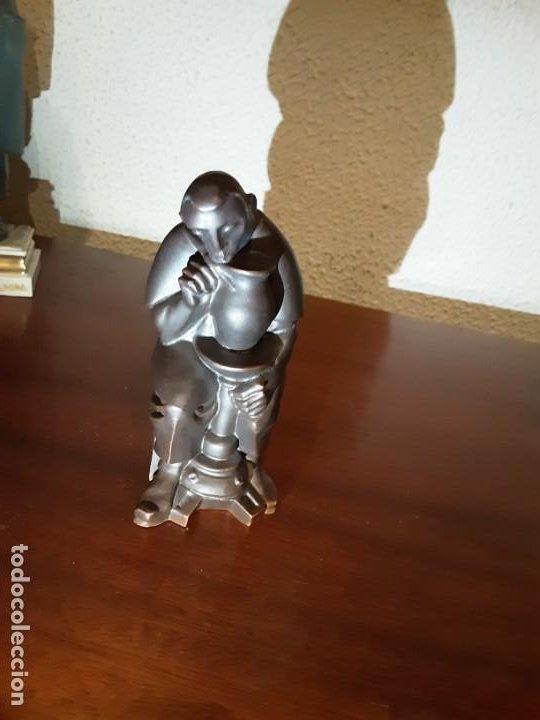 Antigüedades: Curioso monje alfarero - Porcelana Algora - sellada - difícil de encontrar - Foto 2 - 194960322