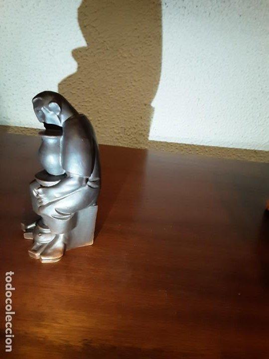Antigüedades: Curioso monje alfarero - Porcelana Algora - sellada - difícil de encontrar - Foto 3 - 194960322