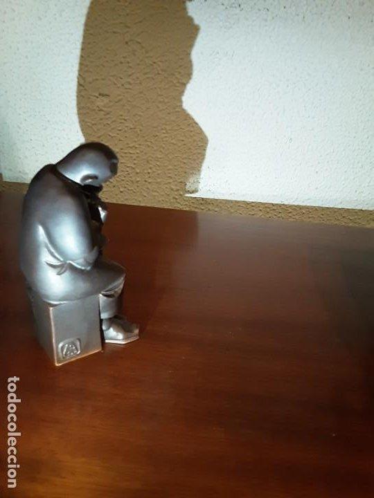 Antigüedades: Curioso monje alfarero - Porcelana Algora - sellada - difícil de encontrar - Foto 4 - 194960322