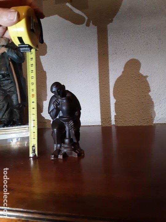 Antigüedades: Curioso monje alfarero - Porcelana Algora - sellada - difícil de encontrar - Foto 6 - 194960322