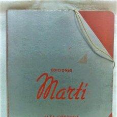 Antigüedades: EDICIONES MARTÍ. ALTA COSTURA.MODA DE VERANO 1941.DESCRIPCIÓN MODELOS Y PATRONES.36 LÁMINAS. Lote 194961952
