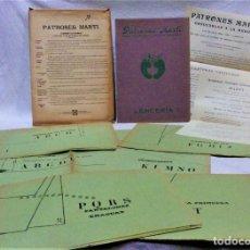 Antigüedades: PATRONES MARTÍ. LENCERIA AÑOS 20.LIBRETA DE LÁMINAS Y 6 PLANCHAS DESPLEGABLES PATRONES. Lote 194962657