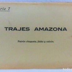 Antigüedades: PATRONES GRADUABLES SISTEMA MARTÍ.TRAJES AMAZONA. SOBRE CON 2 PLANCHAS CON PATRONES.AÑOS 20.SERIE 7 . Lote 194964076