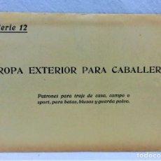 Antigüedades: PATRONES GRADUABLES SISTEMA MARTÍ.ROPA EXTERIOR PARA CABALLERO.2 PLANCHAS PATRONES.AÑOS 20.SERIE 12 . Lote 194965056