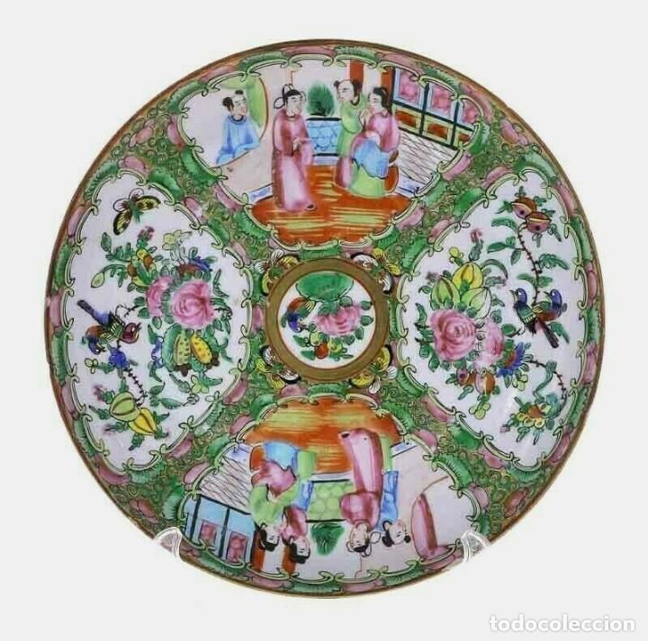PLATO ANTIGUO DE PORCELANA CHINA DE LA DINASTÍA QING (Antigüedades - Porcelanas y Cerámicas - China)