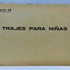 Antigüedades: PATRONES GRADUABLES SISTEMA MARTÍ.TRAJES PARA NIÑAS.SOBRECON 2 PLANCHAS- PATRONES.AÑOS 20.SERIE 14 . Lote 194965840