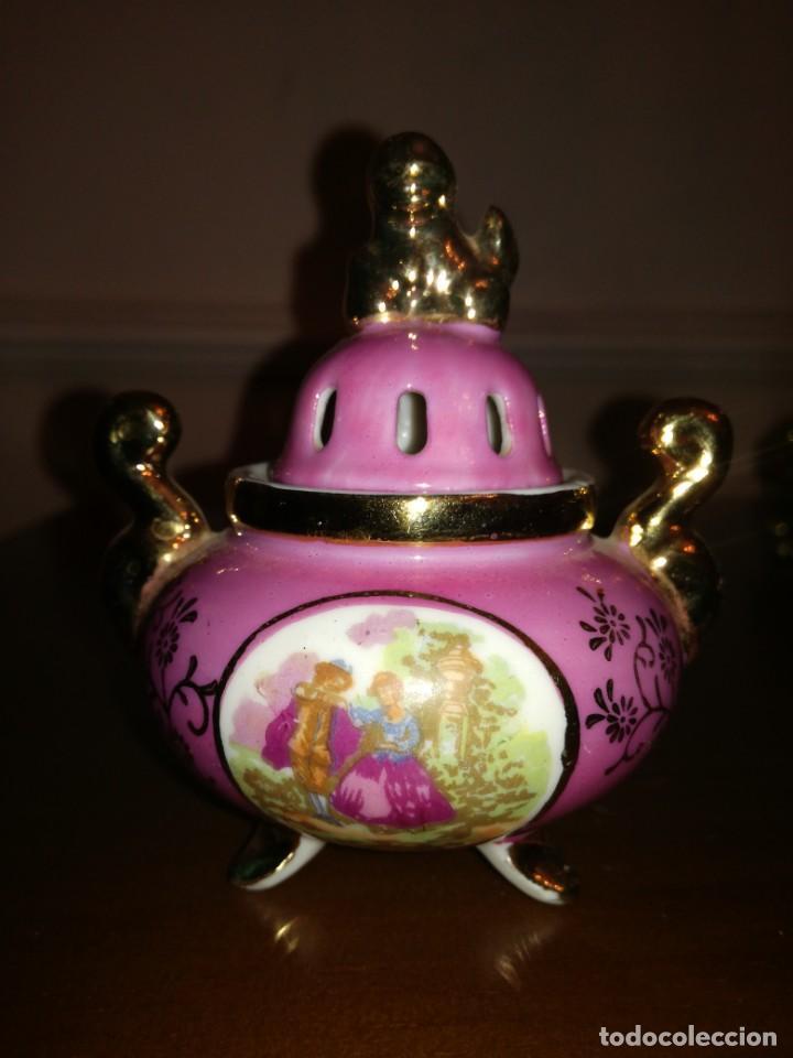 Antigüedades: Pequeño recipiente incensario porcelana Nakasima - Foto 3 - 194965902
