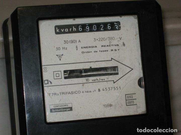 Antigüedades: Antiguo contador de la luz trifasico a 4 hilos - Ladis & GyR. 1988. - Foto 3 - 194966657