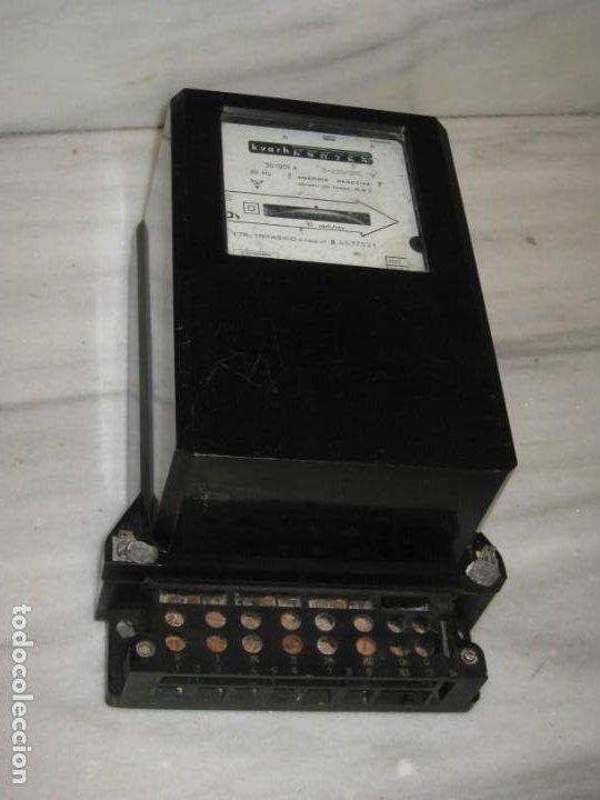 Antigüedades: Antiguo contador de la luz trifasico a 4 hilos - Ladis & GyR. 1988. - Foto 8 - 194966657