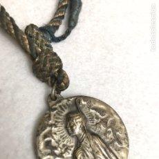 Antigüedades: ANTIGUA MEDALLA RELIGIOSA. VIRGEN INMACULADA Y EN EL REVERSO, SANTO A IDENTIFICAR. Lote 194970065