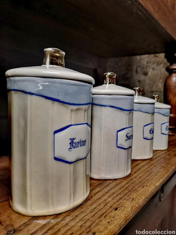 Antigüedades: Tarros de cocina de porcelana de Limoges - Foto 2 - 194970185