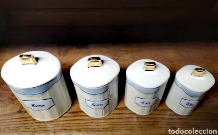 Antigüedades: Tarros de cocina de porcelana de Limoges - Foto 3 - 194970185