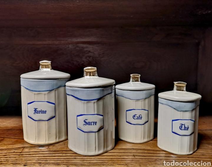 Antigüedades: Tarros de cocina de porcelana de Limoges - Foto 4 - 194970185