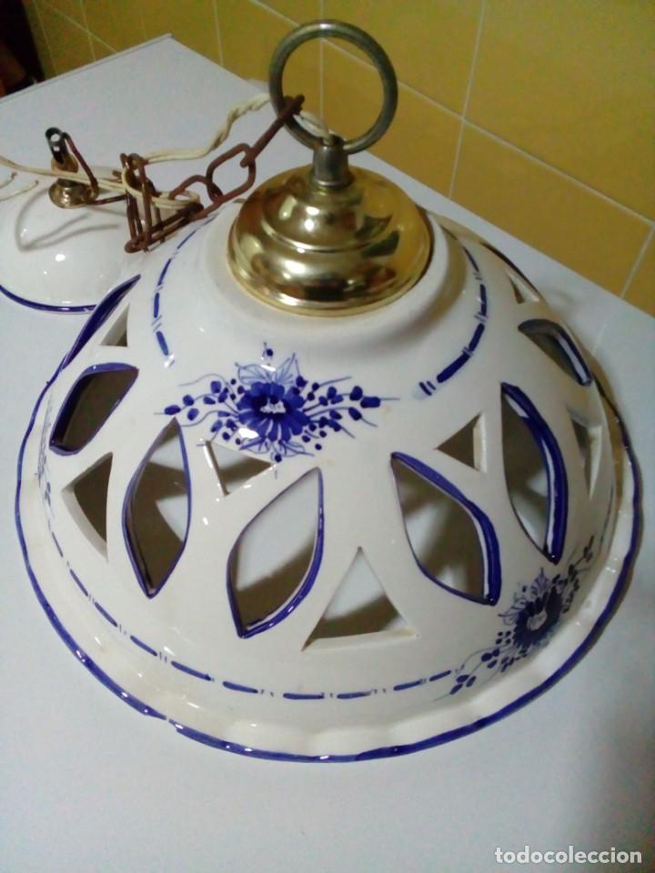 BONITA LAMPARA DE CERAMICA (Antigüedades - Iluminación - Lámparas Antiguas)